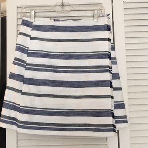 Loft blue and white skirt